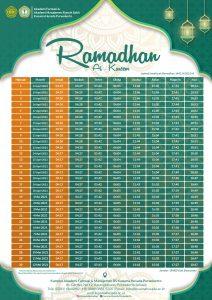 Jadwal Imsakiyah Untuk Wilayah Kabupaten Banyumas dan Sekitarnya - Ramadhan 1442 H/2021 M